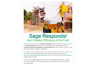 CFO on the go, Sage 100 Contractor Email Blast Screenshot
