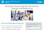 HP Ingram Landing Page Screenshot